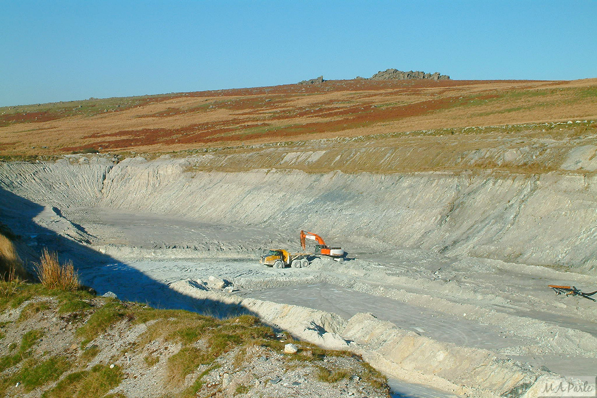 Whitehill Yeo Clay Pit extension with china clay extraction ongoing