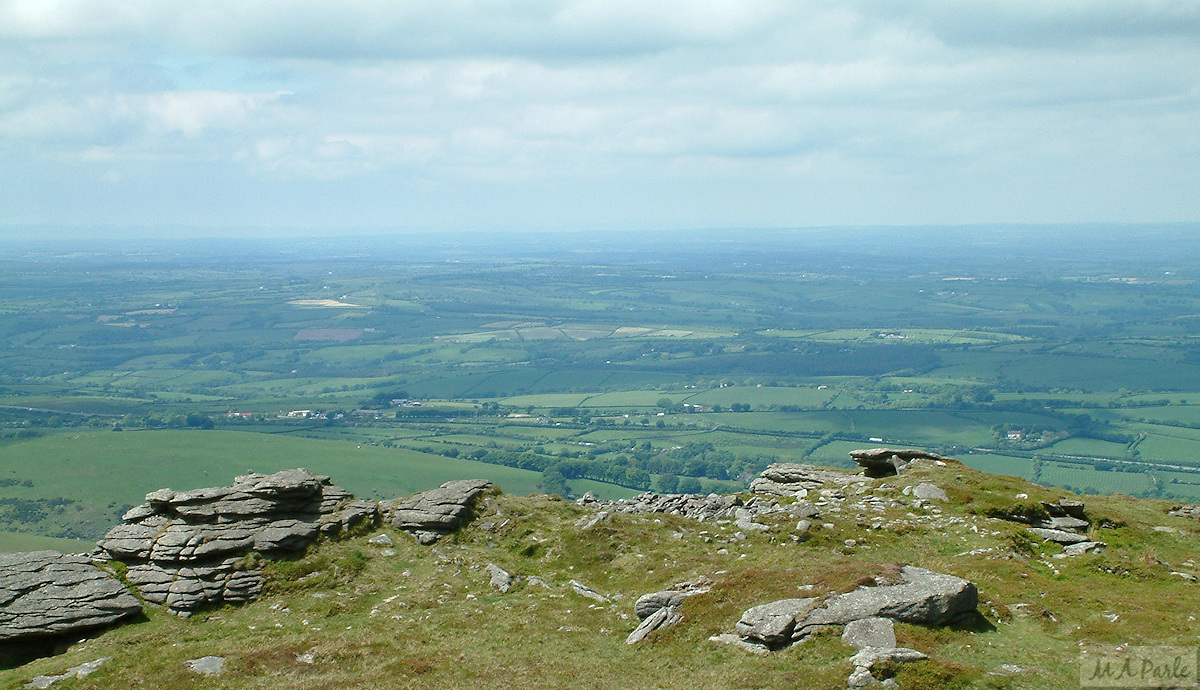 View north from Yes Tor