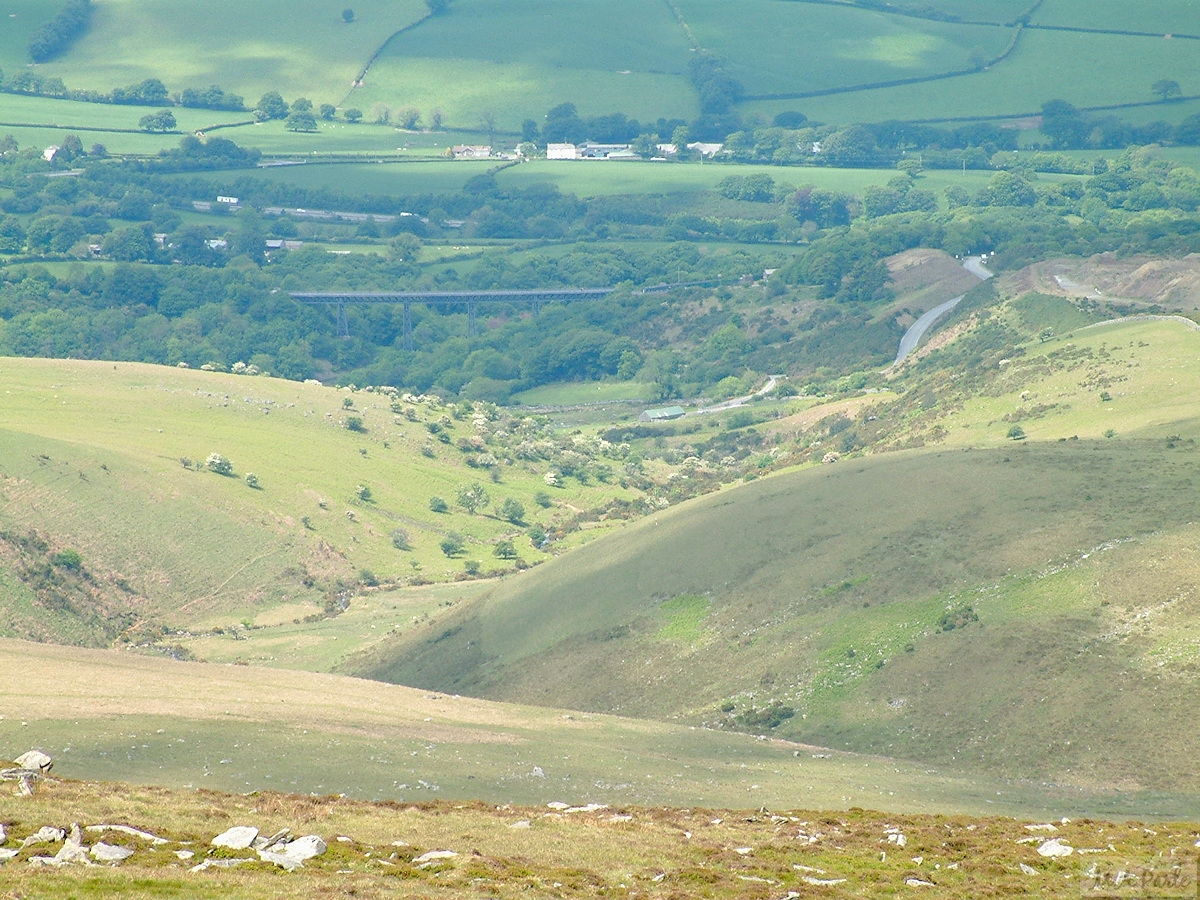 View down to Meldon Viaduct