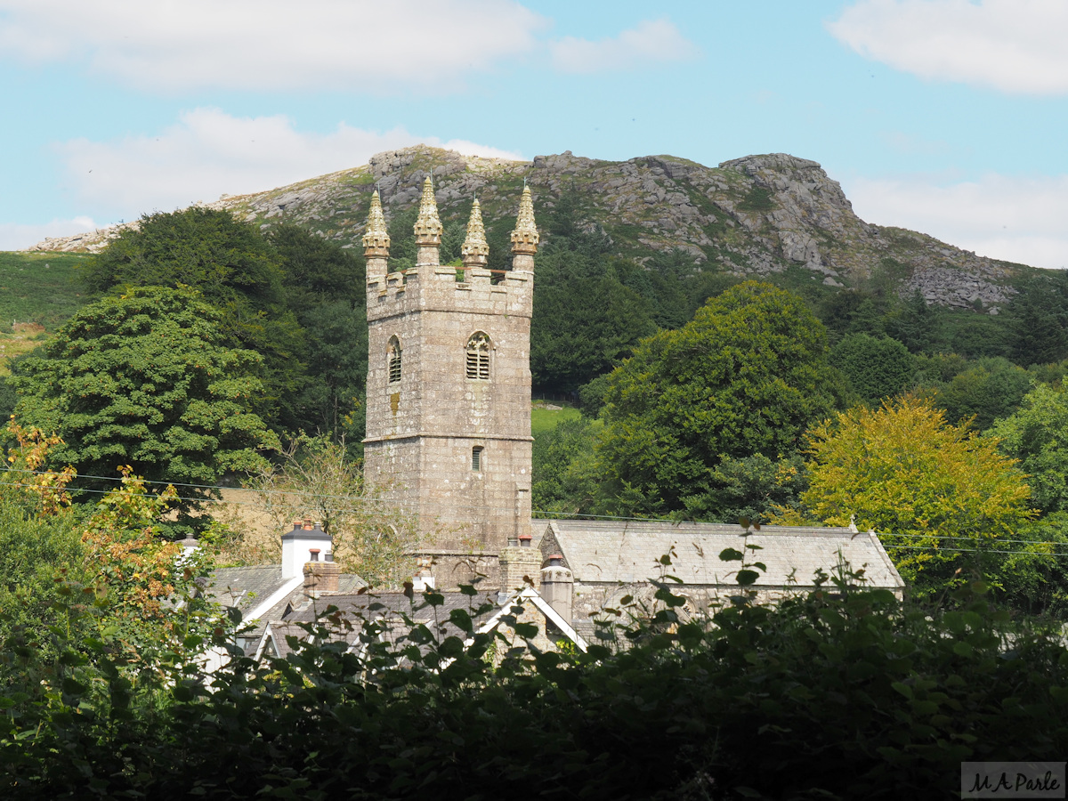 Sheepstor Church with Sheeps Tor